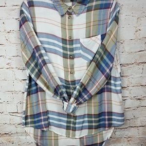 Topshop Button down flannel